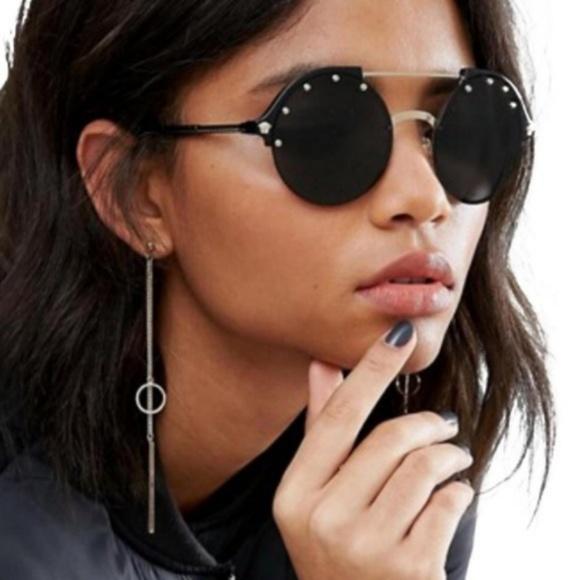 acccc58711 Versace Sunglasses Black Gold w Dark Grey Lens
